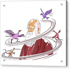 Charles Darwin Acrylic Print by Harald Ritsch