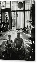 Charles Eames And Ray Eames Acrylic Print