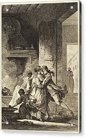 Charles Emmanuel Patas After Jean-honoré Fragonard French Acrylic Print by Quint Lox