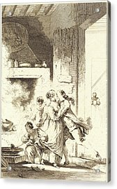 Charles Emmanuel Patas After Jean-honoré Fragonard Acrylic Print by Litz Collection