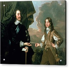 Charles I And James, Duke Of York Acrylic Print by Sir Peter Lely
