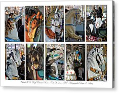Charles Looff Carousel Ponies Acrylic Print