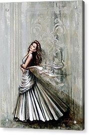 Swan Gown Acrylic Print
