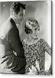 Charles Macarthur And Helen Hayes Acrylic Print by Edward Steichen