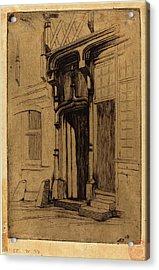 Charles Meryon, French 1821-1868, Porte Dun Ancien Couvent Acrylic Print