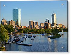 Charles River At Sunset Acrylic Print