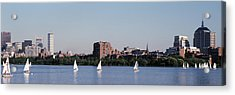 Charles River Skyline Boston Ma Acrylic Print by Panoramic Images