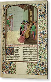 Charles The Bold And Author Acrylic Print by British Library