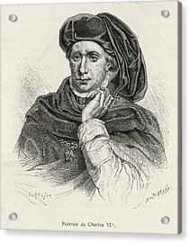 Charles Vi Of France Also Known As 'le Acrylic Print by Mary Evans Picture Library
