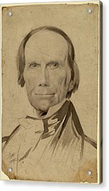 Charles Wesley Jarvis, Henry Clay, American Acrylic Print by Quint Lox