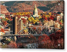 Charleston And Wv Capitol Acrylic Print