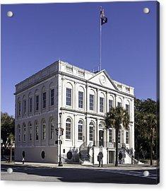 Charleston City Hall Acrylic Print by Lynn Palmer