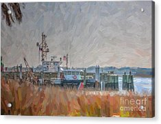 Charleston Coast Guard Acrylic Print