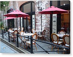 Charleston French Cafe Bistro - Rue De Jean French Restaurant Cafe Bistro Charleston South Carolina Acrylic Print by Kathy Fornal