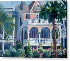 Charleston Historic Homes Acrylic Print by Gretchen Allen