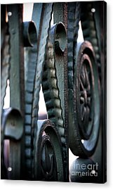 Charleston Iron Acrylic Print by John Rizzuto