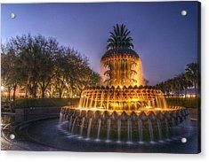 Charleston Pineapple Fountain Acrylic Print