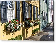 Charleston Sc Rainbow Row Acrylic Print