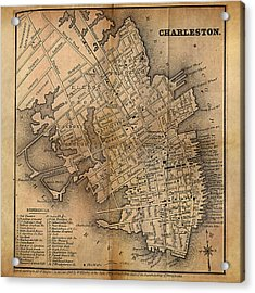 Charleston Vintage Map No. I Acrylic Print