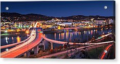 Charleston Wv At Night Acrylic Print