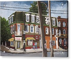 Charlevoix And Mullins Pointe St. Charles Acrylic Print by Reb Frost
