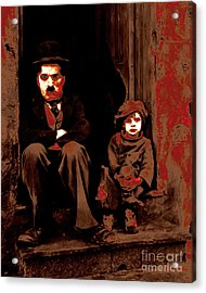 Charlie Chaplin 20130212-2 Acrylic Print by Wingsdomain Art and Photography