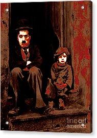 Charlie Chaplin 20130212-2 Acrylic Print by Wingsdomain Art and Photography