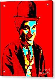 Charlie Chaplin 20130212 Acrylic Print by Wingsdomain Art and Photography