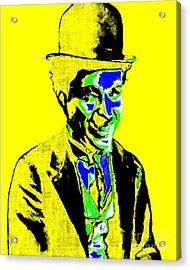 Charlie Chaplin 20130212p60 Acrylic Print by Wingsdomain Art and Photography
