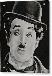 Charlie Chaplin Acrylic Print by Aaron Balderas