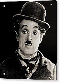 Charlie Chaplin Acrylic Print by Maciek Froncisz