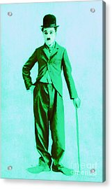 Charlie Chaplin The Tramp 20130216m150 Acrylic Print by Wingsdomain Art and Photography