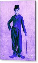 Charlie Chaplin The Tramp 20130216m60 Acrylic Print by Wingsdomain Art and Photography
