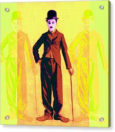 Charlie Chaplin The Tramp Three 20130216p30 Acrylic Print by Wingsdomain Art and Photography