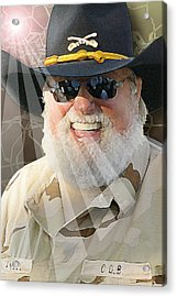 Acrylic Print featuring the digital art Charlie Daniels by Don Olea