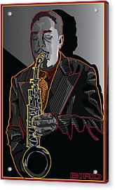 Charlie Parker Jazz  Saxophone Legend Acrylic Print by Larry Butterworth