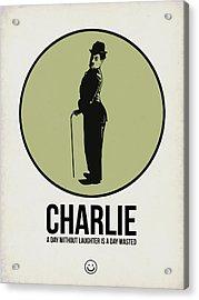 Charlie Poster 1 Acrylic Print by Naxart Studio