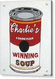 Charlie Sheen Soup Acrylic Print by Venus