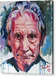 Charlie Watts Acrylic Print by Tachi Pintor