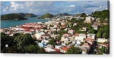 Charlotte Amalie Acrylic Print by Susan  Degginger