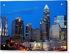 Acrylic Print featuring the photograph Charlotte At Night by James Kirkikis