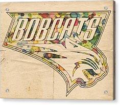 Charlotte Bobcats Vintage Poster Acrylic Print by Florian Rodarte