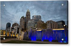 Acrylic Print featuring the photograph Charlotte City Lights by Serge Skiba
