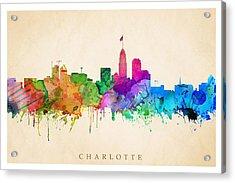 Charlotte Cityscape Acrylic Print