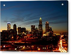Charlotte Dusk Lights Acrylic Print by Paul Scolieri