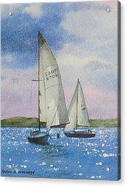 Charlotte Harbor Sail Acrylic Print by Karol Wyckoff