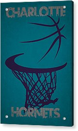 Charlotte Hornets Hoop Acrylic Print by Joe Hamilton