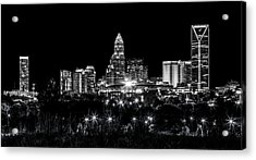 Charlotte Night Acrylic Print by Chris Austin