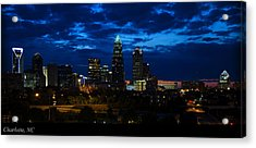 Charlotte North Carolina Panoramic Image Acrylic Print by Chris Flees