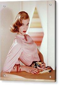 Charlotte Payne Wearing Cartier Jewelry Acrylic Print